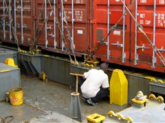 Inspection of shipping containers for contamination
