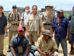 Pest survey team - Australian scientists and BSI staff